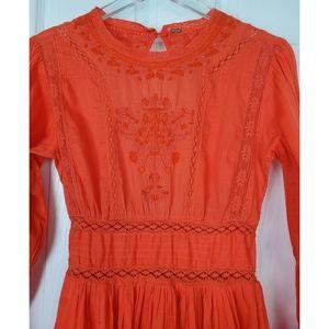 Free People Dresses - Free people Victorian Embroidered mini dress